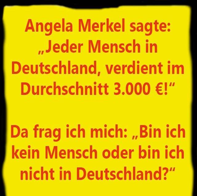 Merkel - jeder Mensch verdient
