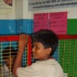 Kinder-Bank in Asien